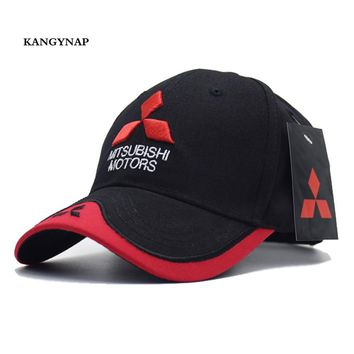 Trendy Winter Jacket [KAGYNAP] Mitsubishi MOTO GP Trucker Caps 3 d Embroidery Motorcycle Snapback Hats For Men Women Baseball caps casquette AT_92_12
