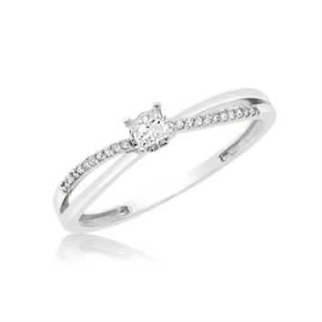 Gold 0.15 Cttw Princess Promise Ring
