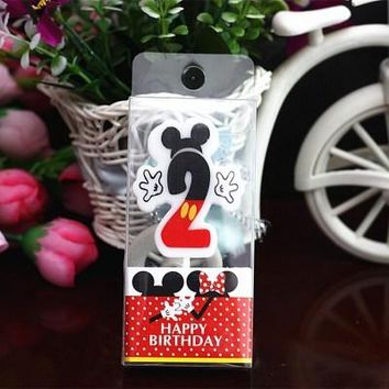 Birthday Candle Mickey Candle 2 Anniversary Cake Numbers Age Candle Party Supplies Decoration Cake Numbers Age Candl