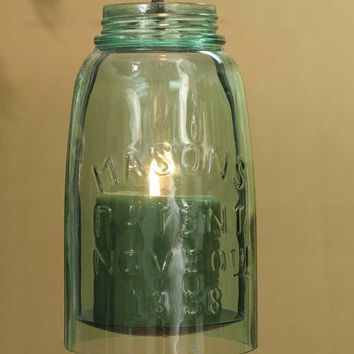 Hanging Mason Jar Pillar Holder - Half Gallon - Set of 2