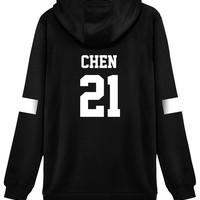 KPOP EXO Hoodie Sweater 21 Chen Jacket Pullover