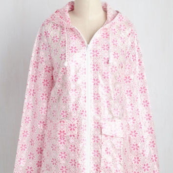 Flower Showers Rain Coat in Pink