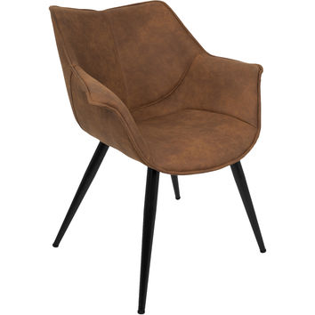 Wrangler Contemporary Accent Chair, Rust (Set of 2)