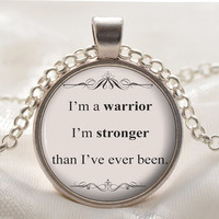 Song Lyric Jewelry - Demi Lovato Song Lyrics Quote Necklace - Inspirational Music Pendant - Silver Motivational Jewelry Gift for Her