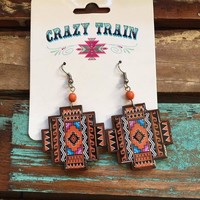 Crazy Train Aztec Earrings