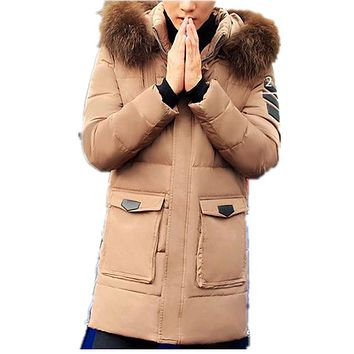Size M-3XL New Men's Solid Thick Winter Warm Large Faux Fur Collar White Duck Down Jacket Coat For Men Winter,4 Colors,8088