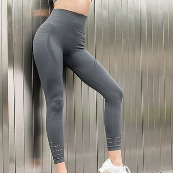 High Waist Stretched Sports Pants seamless Gym Clothes Spandex Running Tights Women Sports Leggings Fitness Yoga Pants