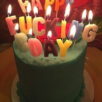 Happy Fucking Birthday Candles - Pre-Order, Ships Late September
