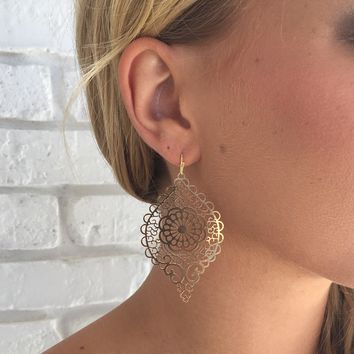 Golden Medallion Earrings