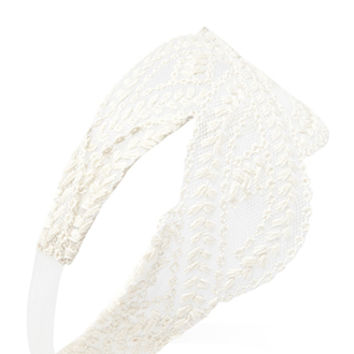 FOREVER 21 Delicate Embroidered Headband Cream One