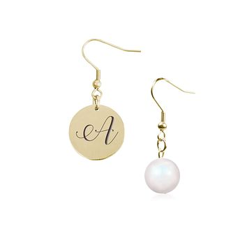 Mis-matched Initial Earrings