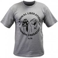Animal/Human Liberation Unisex T-Shirt: PETA Catalog