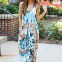 Beach Fab Maxi Dress, Ice Blue
