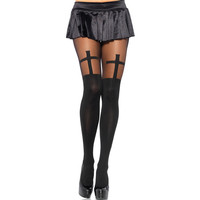 Fashion Stockings Pants Black High Waist Stylish Pantyhose = 4799443076