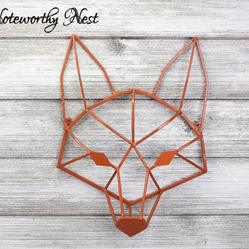 ANY COLOR: Geometric Fox Wall Decor // Nursery Decor // Fox Decor // Fox Wall Hanging // Geometric Animal // Modern Decor // Gallery Wall