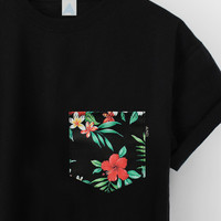 ANDCLOTHING — AND Tropical Floral Pocket Tee