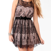 Eyelash Lace Bow Dress