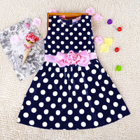 Girls Polka Dot Summer Dress