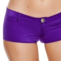 Purple Low Rise Rave shorts