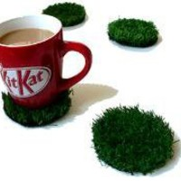 Outside In Grass Coasters - Lazybone