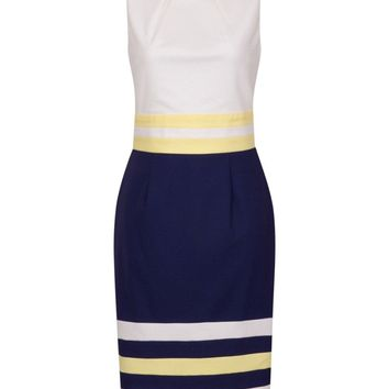 **Paper Dolls Multi Colour Block Pleated Shift Dress | Dorothyperkins