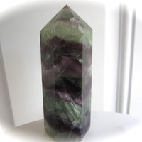 Large Rainbow Fluorite Crystal Point