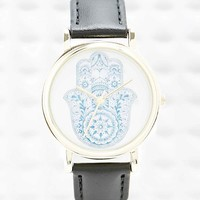 Hamsa Watch in Black - Urban Outfitters