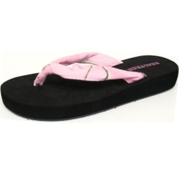 Realtree Girl® Flip Flops | Realtree Girl® Pink Camo Thongs