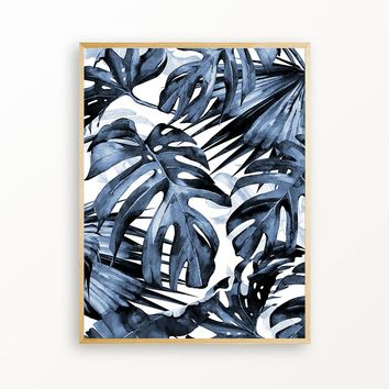 Midnight In The Tropical Jungle - Matte Print
