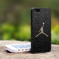Nike Air Jordan Logo Custom - For iPhone 4,4S Black Case Cover