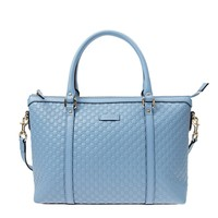 Gucci Leather Micro GG Sky Blue Convertible Purse Handbag 449656