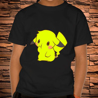 custom t shirt, Baby Pikachu, Pikachu tshirt, Pikachu pokemon shirt, tshirt toodler, Youth Tshirt, and Adult tshirt Birthday