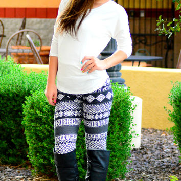 COZY ON OVER HERE LEGGINGS - Default Title