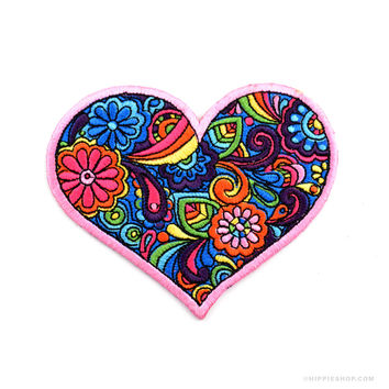 Love Paisley Heart Patch on Sale for $5.99 at The Hippie Shop