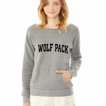 Wolf Pack-block ladies sweatshirt