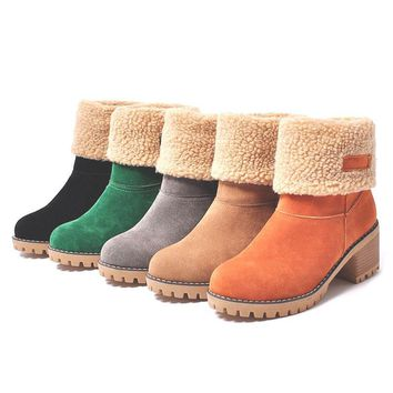 Thick Bottom Platform Waterproof Ankle Winter Warm Boots