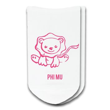 Phi Mu - Sorority Icon No-Show Socks