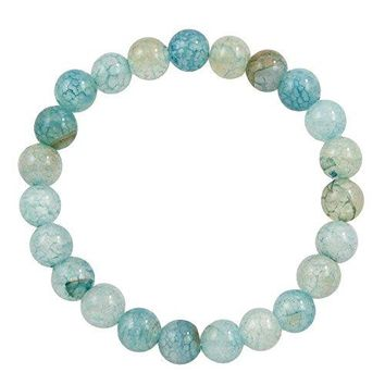 Falari 8mm Natural Semi Precious Gemstone Stretch Bracelet Unisex