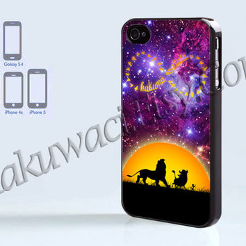 Hakuna Matata Infinity - iPhone 4 case - iPhone 4S case - Samsung Galaxy S3/S4 - iPhone case - Hard Plastic - Case Soft Rubber Case