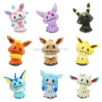 "9 Styles Sylveon Eevee Umbreon Flareon Vaporeon Jolteon Espeon Cosplay Mimikyu 9-10"" Plush Figure Retail"