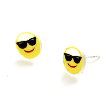 Emoji Face Stud Earrings