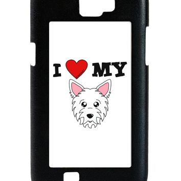 I Heart My - Cute Westie Dog Galaxy Note 2 Case  by TooLoud