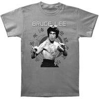 Bruce Lee Men's  Jun Fan Slim Fit T-shirt Asphalt Rockabilia