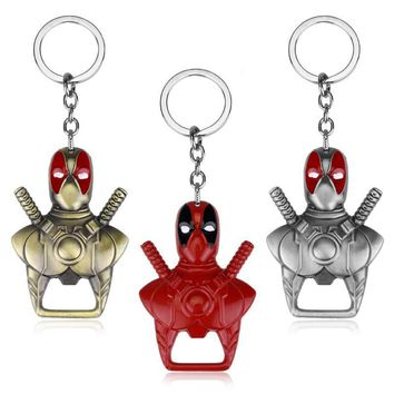 Deadpool Dead pool Taco New  metal Keychain Beer Bottle Opener Key Rings For Gift  Auto Key Chaveiro support ping Sleutelhanger AT_70_6