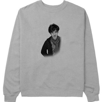 Benedict cumberbatch sweater Gray Sweatshirt Crewneck Men or Women for Unisex Size with variant colour