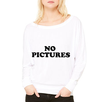 Debbie Harry - No Pictures WOMEN'S FLOWY LONG SLEEVE OFF SHOULDER TEE