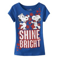 Peanuts Snoopy & Belle ''Shine Bright'' Tee - Girls