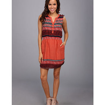Lucky Brand Mandarin Tie Dress