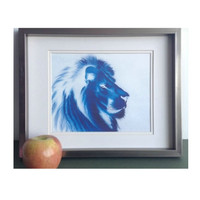 Pencil drawing print Blue lion