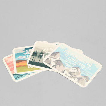 Scenic Postcard - Set Of 8 - Urban Outfitters